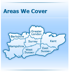 We cover Greater London, Berkshire, Surrey, Kent, East Sussex, West Susseex and Hampshire